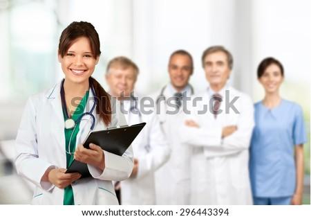 Medical, group, apothecary. - stock photo