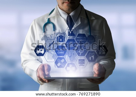 Medical Healthcare Concept Doctor Hospital Icons Stock Photo