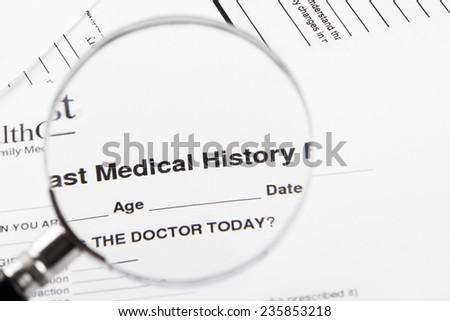 Medical history - stock photo