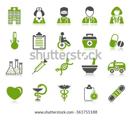 Medical Icons - stock photo