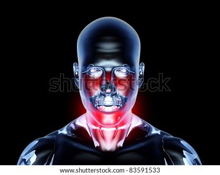 Medical Illustration. 3D rendered Illustration. Isolated on black. - stock photo