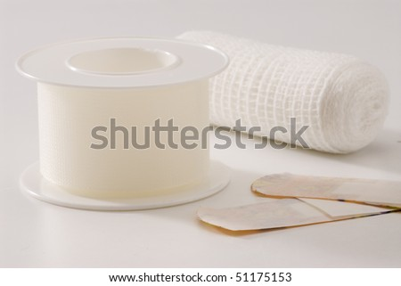Medical in white background. Selective focus. - stock photo