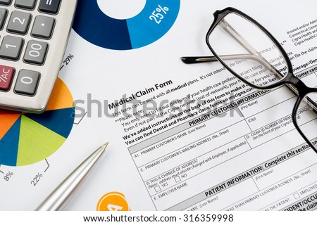Medical insurance claim form - stock photo