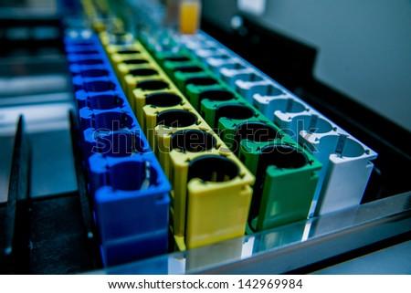 Medical laboratory equipment. Details - stock photo