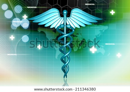 medical logo - stock photo