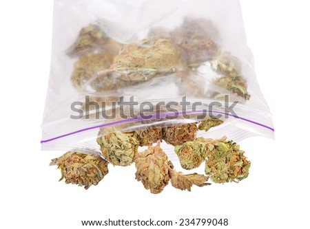 Medical Marijuana aka Pot, Dope, Mary Jane, Joint, Spliff, Ganja, Weed, 420, Herb, Medicine, Hash, Hemp, Bud and many other terms. - stock photo