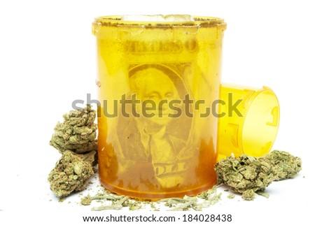 Medical Marijuana and Money  - stock photo
