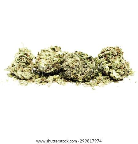 Medical Marijuana Grunge  - stock photo