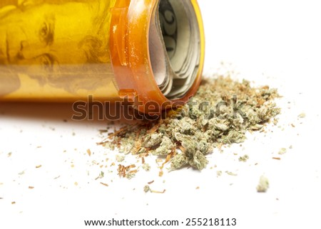 Medical Marijuana , White Background