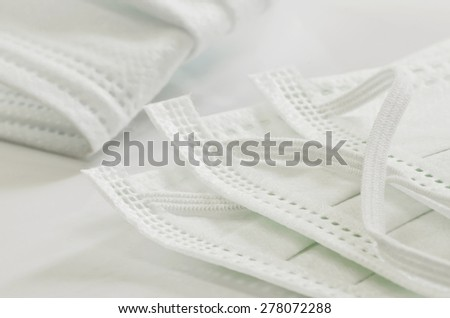 Medical mask in close up view,shallow DOF. - stock photo