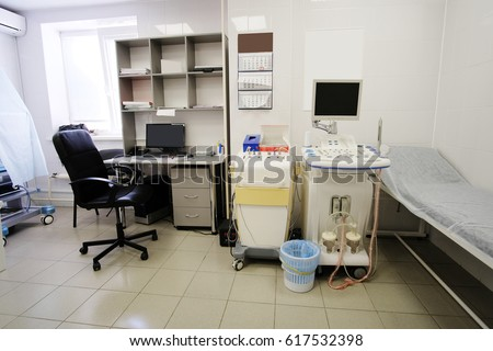Medical office for ultrasonography diagnostic