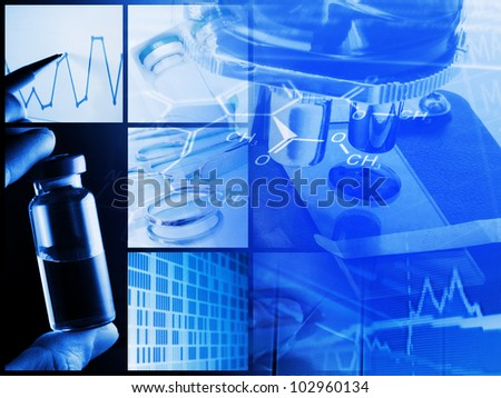 Medical or chemistry analysis concept - stock photo