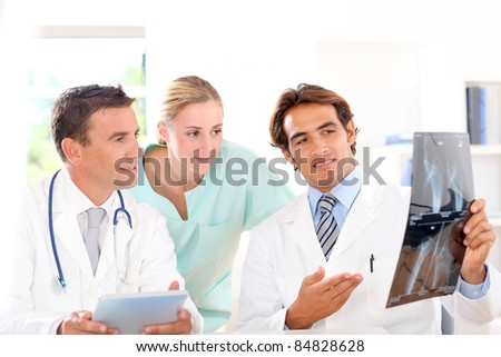 Medical people in work meeting