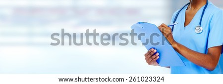 Medical physician doctor hands. Healthcare background banner. - stock photo