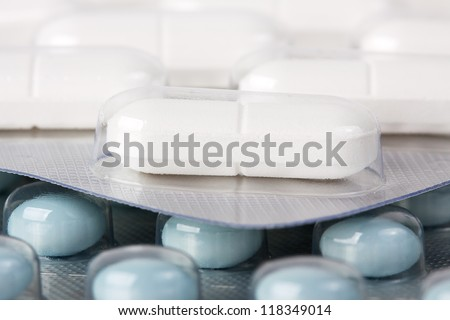 Medical pills in a package