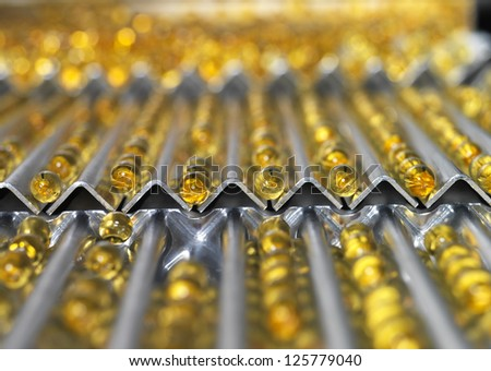 Medical Pills in production Line - stock photo