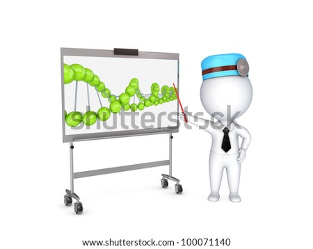 Medical presentation concept.Isolated on white background.3d rendered. - stock photo