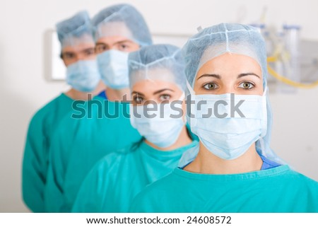 medical professionals closeup portrait