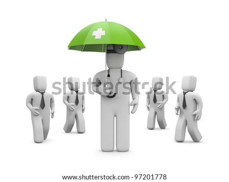 Medical protection. Image contain clipping path - stock photo