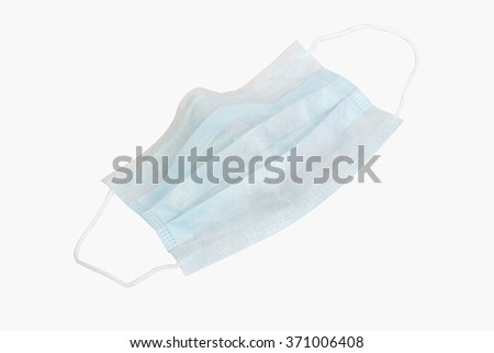 Medical protective shielding bandage isolated on white background - stock photo