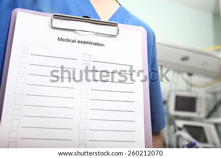 Medical report form to fill - stock photo