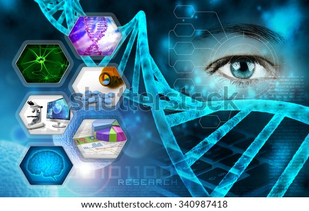 medical science and scientific research abstract background - stock photo