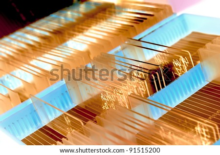 medical science background glass microscope slide - stock photo