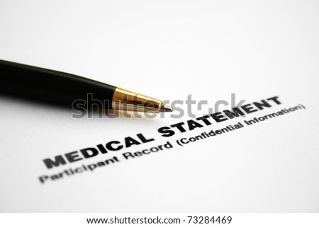 Medical statement