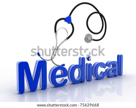 medical stetoskop on a white background - stock photo