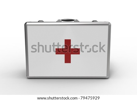 Medical suitcase on a white background
