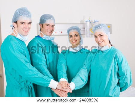 medical surgeons in uniform