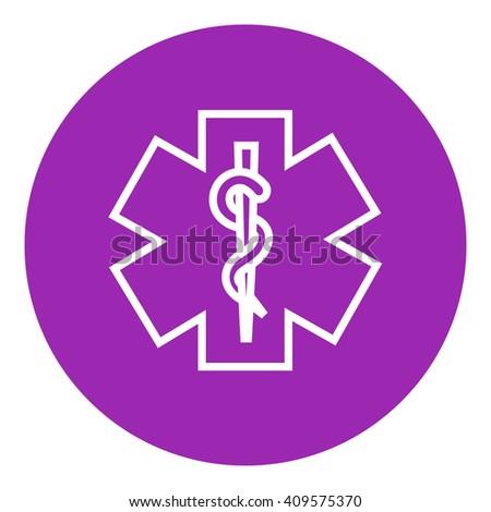 Medical symbol line icon. - stock photo