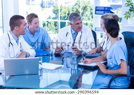 Medical team having a meeting in the hospital - stock photo