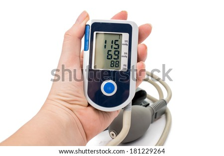 Medical tonometer on a white background