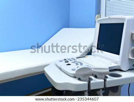 Medical ultrasound diagnostic equipment at clinic