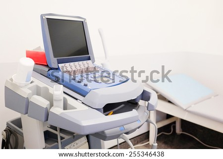 Medical ultrasound diagnostic machine - stock photo