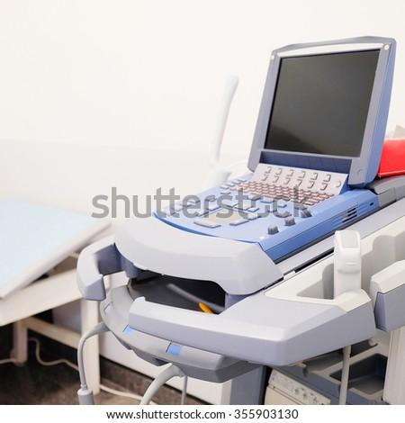 Medical ultrasound diagnostic machine - stock photo