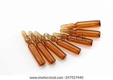 medical vials for injection drug - stock photo
