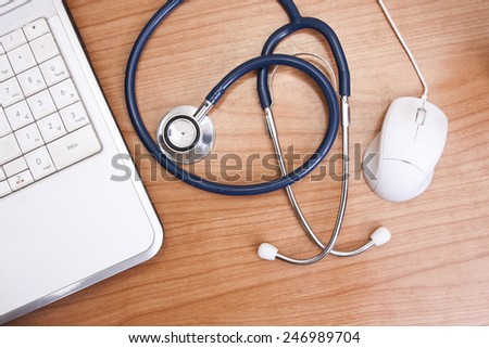medical worktable - stock photo