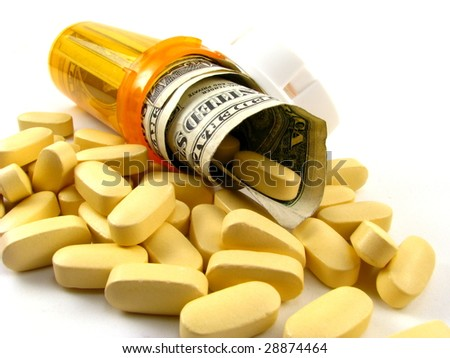 Medication Costs Concept - stock photo