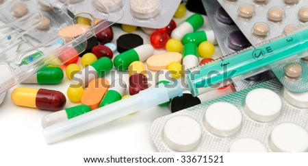 medication isolated on a white