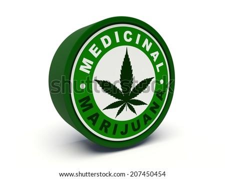 Medicinal marijuana. 3d illustration. - stock photo