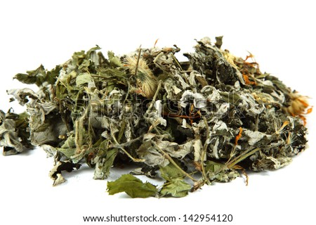 Medicinal plants. Herbs. Collection of medicinal herbs for tea. - stock photo