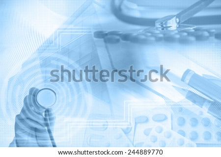 Medicine abstract background - stock photo