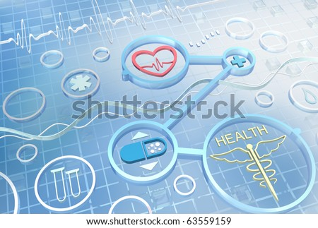 Medicine - abstract background - stock photo