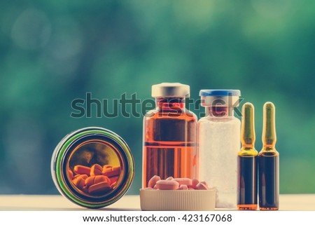 medicine and drugs for injection