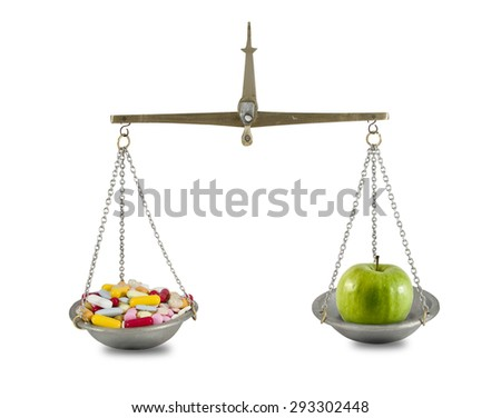 Medicine and food comparison