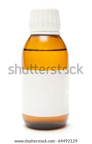 medicine bottle isolate on white - stock photo