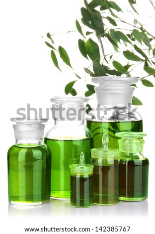 Medicine bottles isolated on white