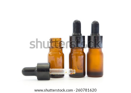 Medicine bottles isolated on white background - stock photo